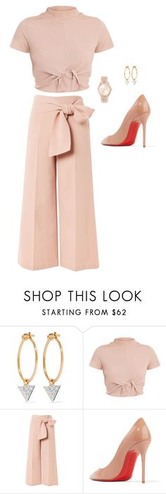 """""""Untitled #825"""" by psoto-1 ❤ liked on Polyvore featuring I+I, Topshop, Christian Louboutin and Michael Kors"""