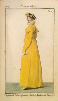 Costume Parisien, 1809, yellow