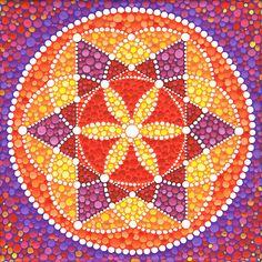 sacred geometry mandala by Elspeth McLean Mandala Art, Mandala Painting, Mandala Design, Mandala Canvas, Elspeth Mclean, Yoga Studio Design, Arte Country, Dot Art Painting, Star Flower