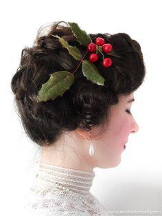 15 Christmas Gibson Girl Hairstyles & Holiday Hair Accessories Edwardian Era, Victorian, Gibson Girl Hair, Milkmaid Braid, Pompadour Hairstyle, Satin Roses, Christmas Hairstyles, Diy Hair Accessories, Diy Hairstyles