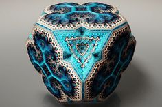 Fabergé Fractals – Former laser physicist Tom Beddard has turned his hand to creating incredible pieces of art that celebrate the beauty and intricacy of fractals.