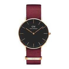 Daniel Wellington's Classic Black Roselyn is an extension of the Classic Collection with a beautiful black dial, rose gold details and the playful Roselyn NATO strap. Dw Watch, Gold Watch, Bracelet Nato, Daniel Wellington Classic, Daniel Wellington Watch Women, Nylons, Nato Strap, Black Crystals, Rose Gold
