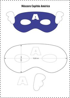 Beautiful masks for children& parties from felt - Free templates ★★ â . Sewing For Kids, Diy For Kids, Crafts For Kids, Captain America Maske, He Man Tattoo, Anniversaire Captain America, Captain America Birthday, Captain America Party, Felt Mask