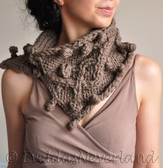 Texture irish cable hand knit neckwarmer by EveldasNeverland