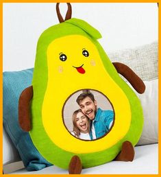 50 cm Size Plush Avocado Pillow with Photo #pillow #birthdaygift #birthdaygift christmas cookies packaging Custom Photo Avocado Pillow 22+ Christmas Cookies Packaging 2020