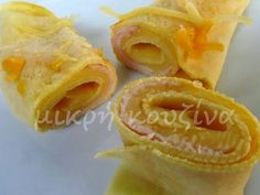 Party Buffet, Breakfast Snacks, Greek Recipes, Crepes, Pineapple, Snack Recipes, Appetizers, Sweets, Fruit
