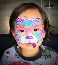 Rainbow dog #facepaintingbooth