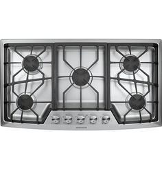 """ZGU385NSMSS - Monogram® 36"""" Stainless Steel Gas Cooktop (Natural Gas) - The Monogram Collection"""
