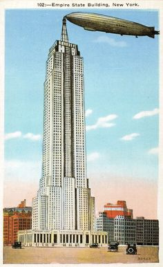 The art-deco spire of the Empire State Building was fancifully designed as a docking station for lighter-than-air ships at a time when they were the rage.