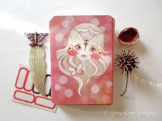 Merolina Moth Girl 4 x 6 Postcard Postcrossing by sandragrafik, $2.50
