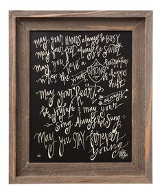 'Stay Forever Young' Barn Framed Sign
