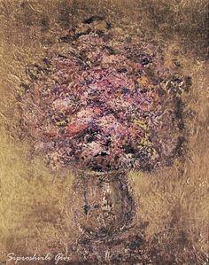 Сипрошвили Гиви. Смешанный букет холст/масло, авторская техника 50см x 40см 2013 г.