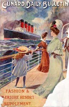 Cunard Daily Bulletin, Fashion & Pleasure Resort Supplement - 1907