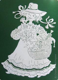 Картина панно рисунок Вырезание Летняя ярмарка Бумага фото 11