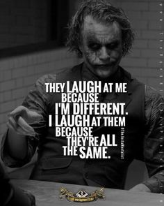 The Joker Heath ledger best quotes with images and Text Quotes Dark Quotes, Wisdom Quotes, True Quotes, Great Quotes, Quotes To Live By, Motivational Quotes, Funny Quotes, Inspirational Quotes, Quotes Quotes