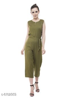 Jumpsuits Trendy Jumpsuits For Women Fabric: Rayon Sleeve Length: Sleeveless Pattern:  Solid Multipack: Single Sizes:  S (Bust Size: 38 in Length Size: 44 in Waist Size: 34 in)  XL (Bust Size: 44 in Length Size: 44 in Waist Size: 40 in)  L (Bust Size: 42 in Length Size: 44 in Waist Size: 38 in)  M (Bust Size: 40 in Length Size: 44 in Waist Size: 36 in) Country of Origin: India Sizes Available: XS, S, M, L, XL   Catalog Rating: ★3.9 (429)  Catalog Name: Classic Modern Women Jumpsuits CatalogID_1343377 C79-SC1030 Code: 163-8102959-009