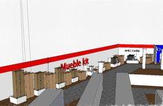 Zona exposición mueble kit. #diseño #sketchup #propuesta