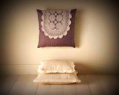 PILLOWS SEAT #oliviastyle #Pillow #design #fashion #handmade #shabbychic #decor #Homeland #crochet #love