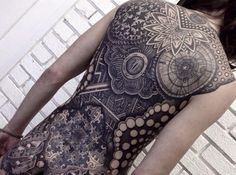 Sick Back Piece Tattoo by Nissaco Tattoo Sleeve Designs, Tattoo Designs For Women, Sleeve Tattoos, Tattoos For Women, Full Back Tattoos, Back Tattoo Women, Finger Tattoos, Girl Tattoos, Tatoos