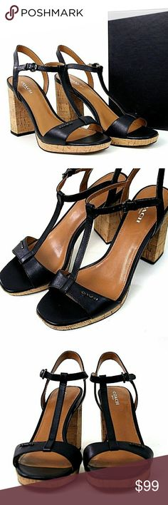 COACH Shoes 8.5 Strappy Heels Sandals Black NEW Brand new in original box. Fresh off the press, size 8.5 Brianna Matte sandals/heels/shoes. Genuine Coach. Actual photos of product you're getting. Coach Shoes Heels