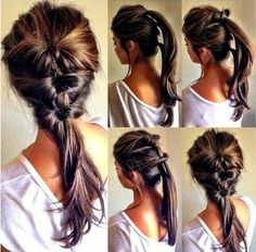 Simple everyday hairdo