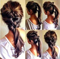 Simple everyday hairdo