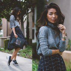 Get this look: http://lb.nu/look/7030316  More looks by Stephanie Liu: http://lb.nu/honeynsilk  Items in this look:  Le Lis Sweater, Le Lis Skirt   #chic #elegant #preppy