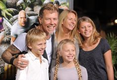 James Hetfield w/His Family -- Their daughter on the far right looks just like James, but all their children has his smile.