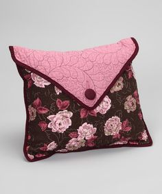 Look what I found on #zulily! Mauvelous Postage Stamp Envelope Throw Pillow #zulilyfinds