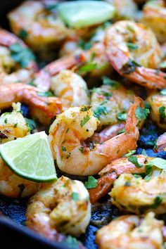 Cilantro Lime Shrimp - best shrimp ever with cilantro, lime