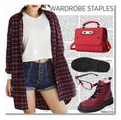 """""""NEWCHIC!"""" by adanes ❤ liked on Polyvore featuring plaid and WardrobeStaples"""