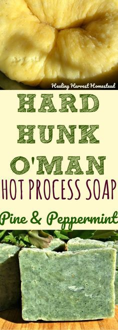 """Want to make a natural handmade soap for the man in your life? Does he deserve a truly delicious shower experience--refreshing and clarifying? YES? Well, here is an incredible hot process soap recipe that is powerfully cleansing, super conditioning, with a wonderful slip and perfect lather. Do you need a Valentines gift? A gift for St. Patrick's Day? Or perhaps a birthday present or Christmas/Hanukkah gift? This soap is perfect for gift giving....or just anytime you want to say, """"I love you"""""""