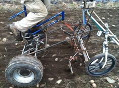 bicycle tractor | Small tractors do many jobs very well, but also consume fuel, are ...