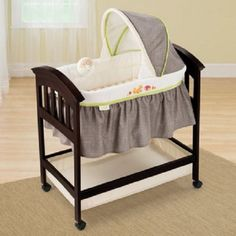 Baby Bassinet Summer Infant Fox Friends Classic Comfort Wood Espresso Stain NEW #SummerInfant