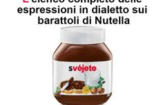 L'elenco completo delle scritte in dialetto sulla Nutella
