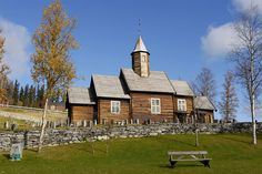 Sollia church, Stor-Elvdal valley. Timber church dating from 1738.  Photo: Jarle Wæhler
