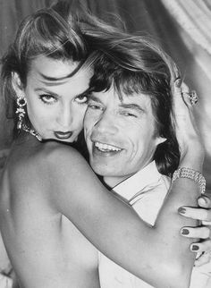 Jerry Hall, Mick Jagger, Keith Richards, Moves Like Jagger, Gangster, Estilo Rock, Studio 54, Famous Couples, Glam Rock
