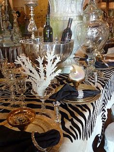 Love the zebra table setting | island living: british west indies ...
