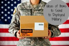 """""""Ideas of Items to Send to Deployed Military""""  Some very easy tried and true ideas that we sometimes forget about - MilitaryAvenue.com"""