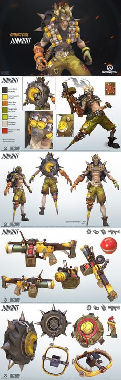 Junkrat reference guide #overwatch #ow #cosplay #costume #game