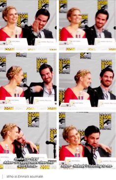 Emma's true Love ---- #SDCC 2014. The ultimate shippers and the founders of the Captain Swan fandom :)