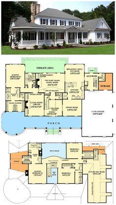 Farmhouse Floor Plans, Farmhouse Flooring, Country Farmhouse, Modern Farmhouse, Farmhouse Decor, French Farmhouse, Farmhouse Layout, Slate Flooring, Farmhouse Ideas