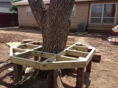 Round Benches around a Tree | Diy Tree Bench | Home Furniture Gallery