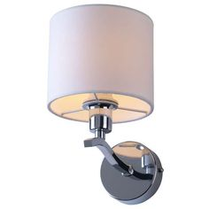 Kinkiet LAMPA ścienna CARMEN RLB94103-1 Zumaline OPRAWA abażurowa chrom ecru