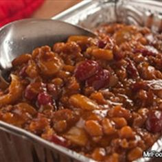 Hillbilly Baked Beans recipe: Nothing is more down-home than the wonderful flavors of backwoods country cooking. these Hillbilly Baked Beans are made in a slow cooker and can even be reheated on a grill for a smoky taste that can't be beat. Slow Cooker Recipes, Crockpot Recipes, Cooking Recipes, Cooking Fish, Cooking Salmon, Steak Recipes, Potluck Recipes, Side Dish Recipes, Do It Yourself Food