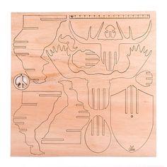 Cabeza 3d Encastrable Alce Madera Paraiso Decoracio Nordica - $ 659,00