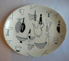 Wonderful abstract art design, so typical of the period. Homemaker interest. UK - £6.05.   eBay!