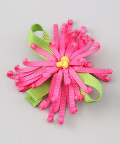 Take a look at this Hot Pink Chrysanthemum Clip by Loopy Loos on #zulily today!
