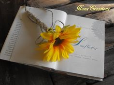 Stylish Burlap Sunflower Wedding Pen for your by hanscreations