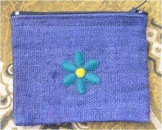 Peňaženka z konope tmavo-modrá